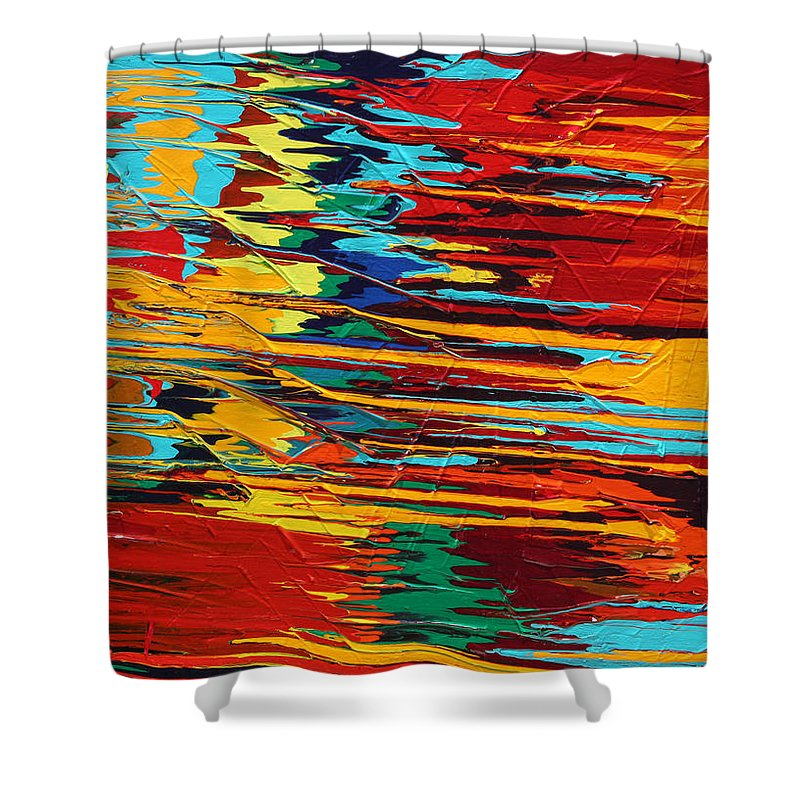Fusionart Shower Curtain featuring the painting Zap by Ralph White