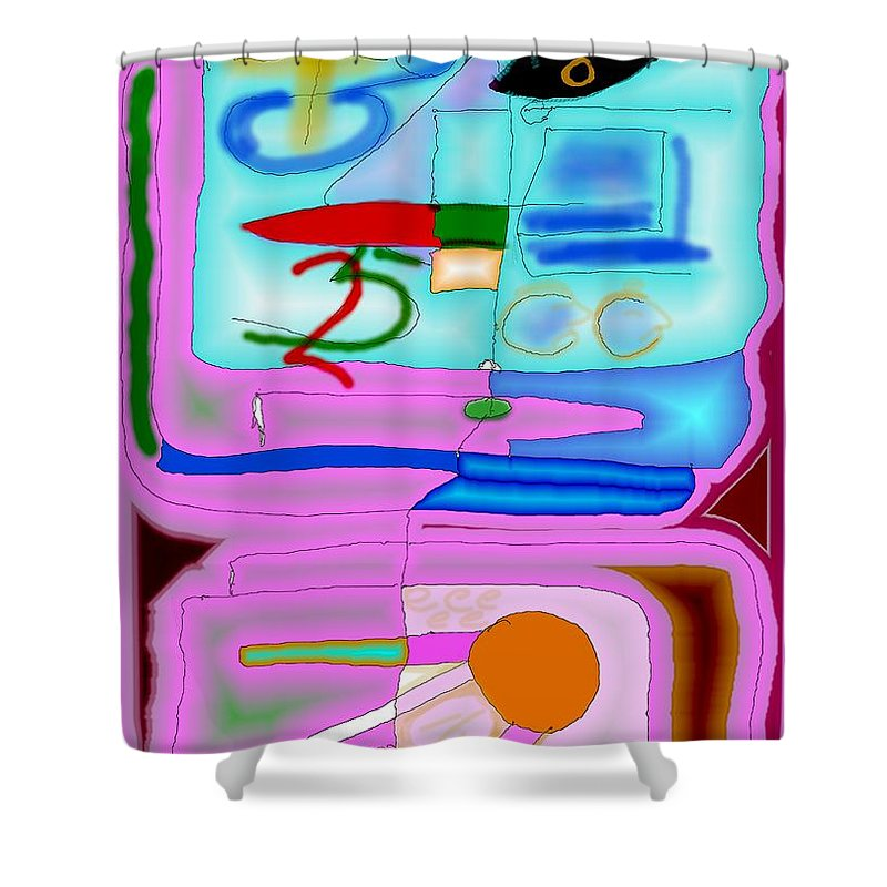 Zapp Shower Curtain featuring the digital art Zapp by Helmut Rottler