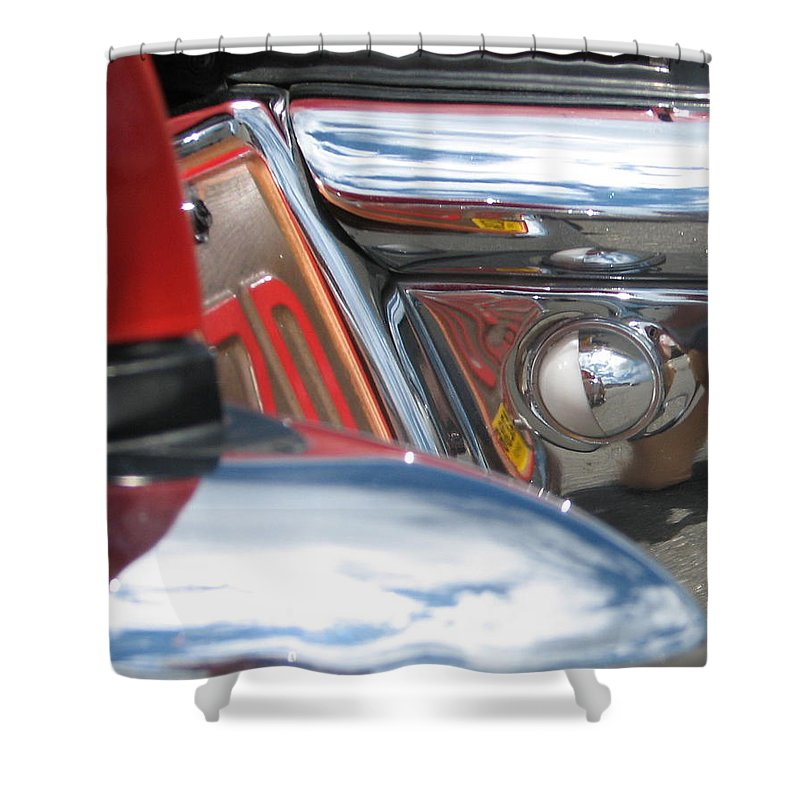 Thunderbird Shower Curtain featuring the photograph ZD by Kelly Mezzapelle