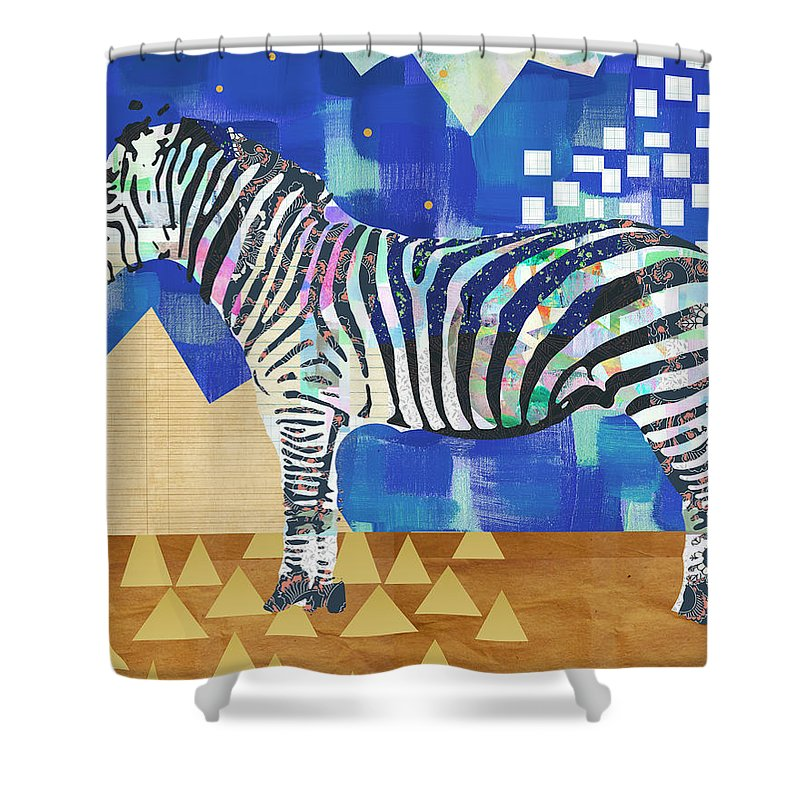 Zebra Collage Shower Curtain For Sale By Claudia Schoen