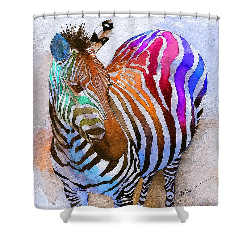 Zebra Shower Curtains