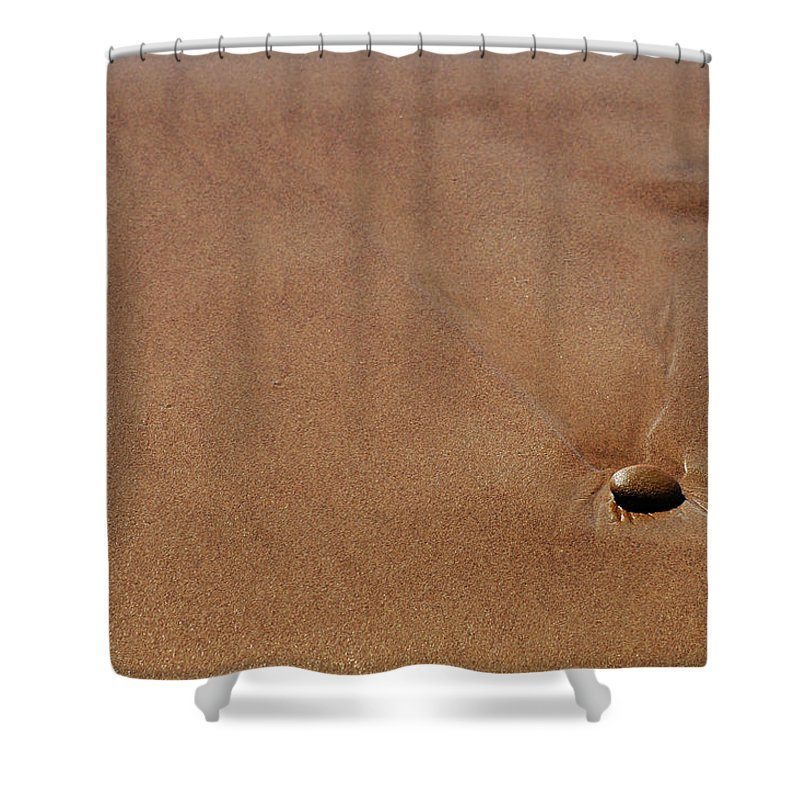 Clay Shower Curtain featuring the photograph Zen At The Beach by Clayton Bruster
