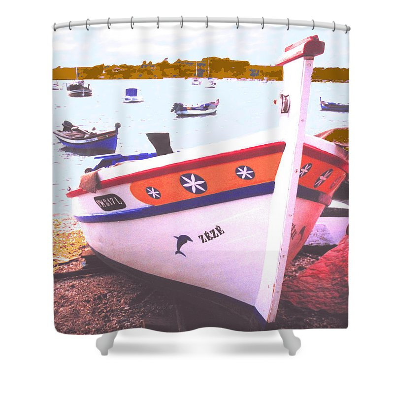 Portugal Shower Curtain featuring the photograph Zeze On The Algarve by Ian MacDonald