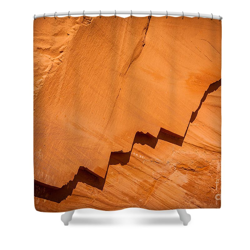 America Shower Curtain featuring the photograph Zigzag Sandstone by Inge Johnsson