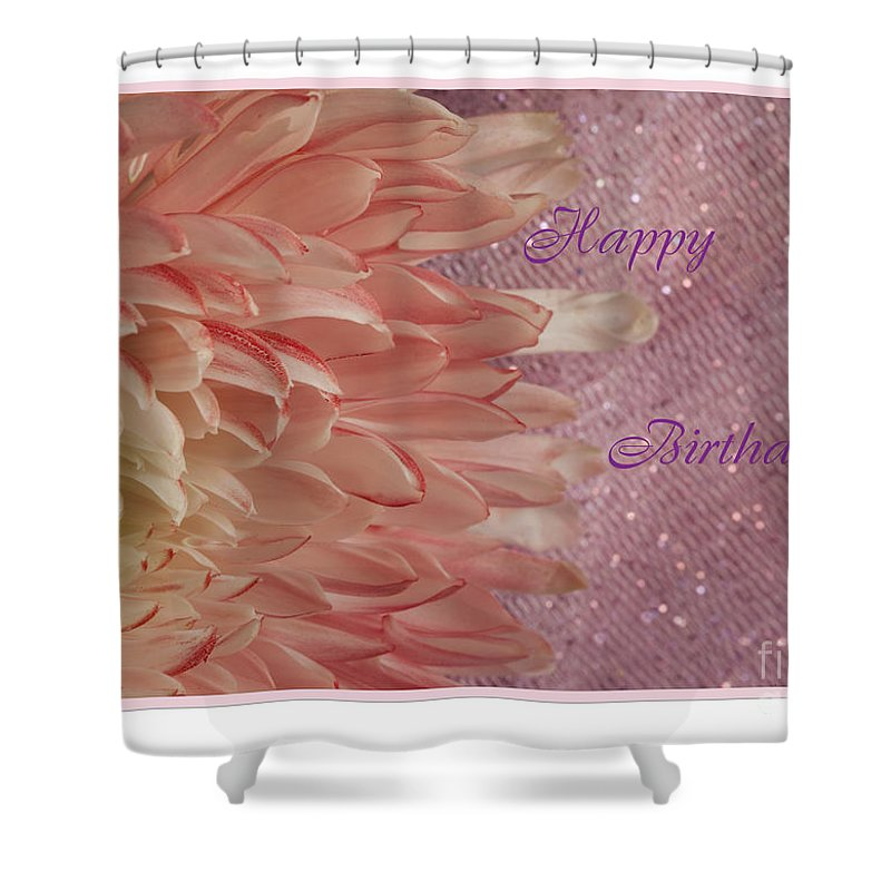 Flowers Shower Curtain featuring the photograph Chrysanthemum Birthday by Donna Crider