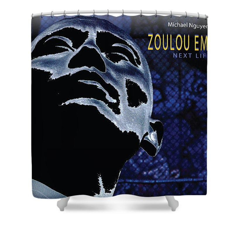 Poster Shower Curtain featuring the photograph Zoulou Emperor by Line Gagne