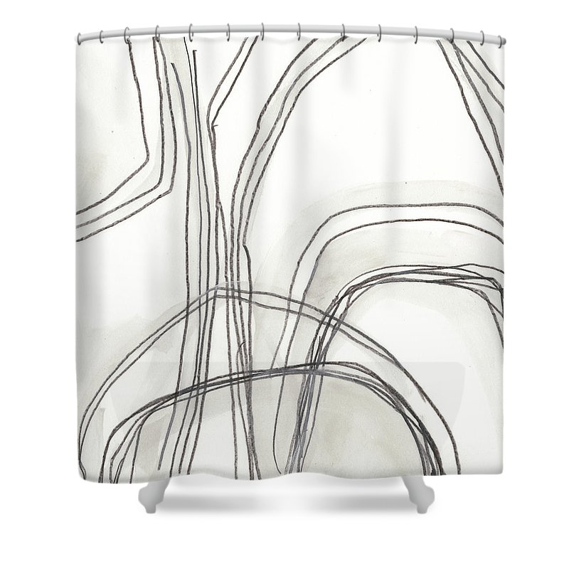 Abstract Shower Curtain featuring the painting Abstract Logic Iv by June Erica Vess
