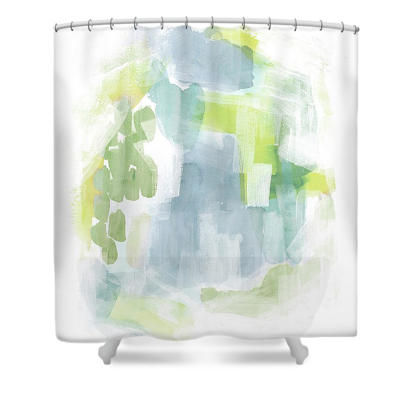 Abstract Shower Curtain featuring the painting Abstract Reef II by Grace Popp