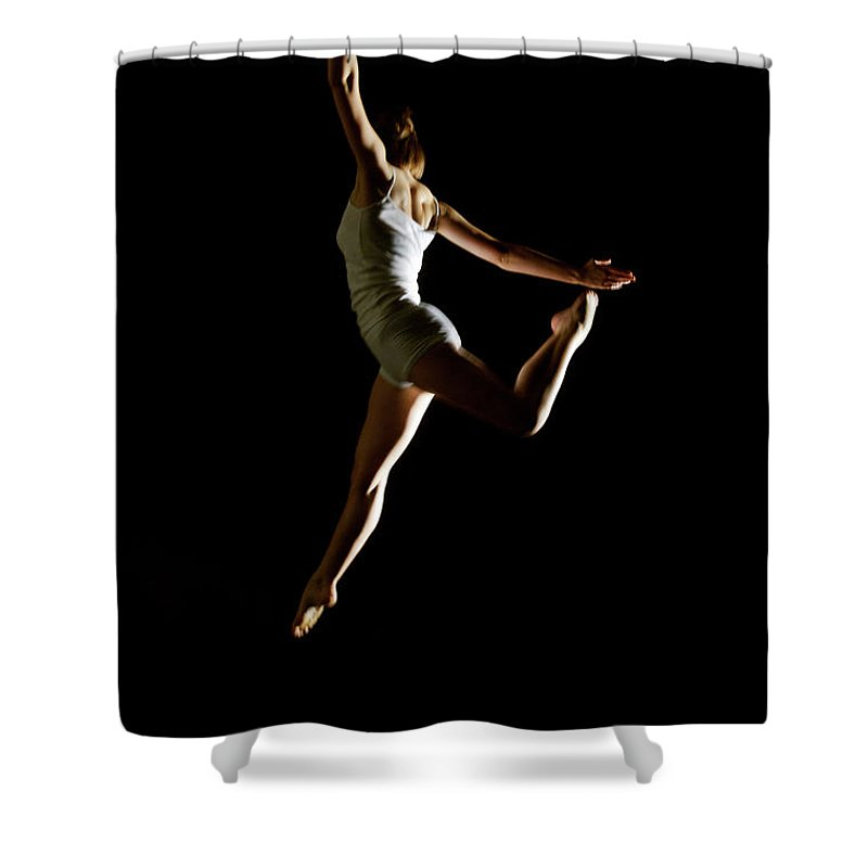 Ballet Dancer Shower Curtain featuring the photograph Ballet And Contemporary Dancers by John Rensten