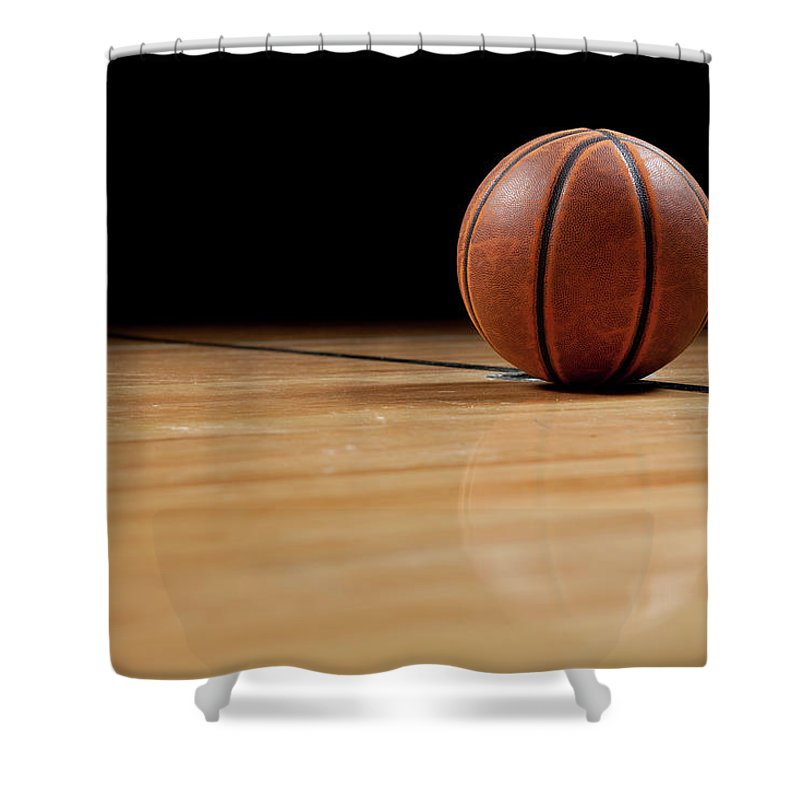 Ball Shower Curtain featuring the photograph Basketball by Garymilner