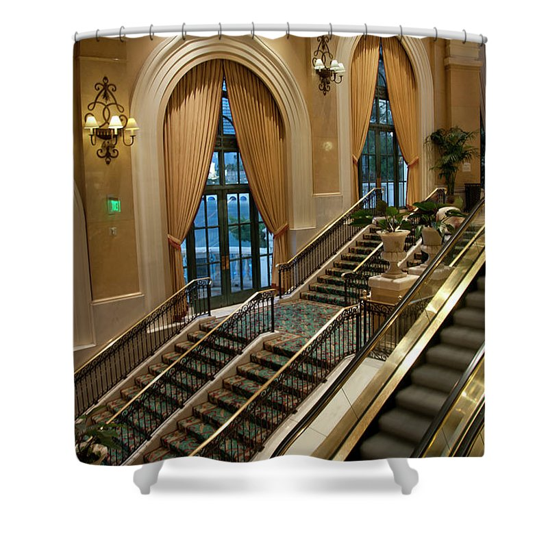 Arch Shower Curtain featuring the photograph Bellagio Interior by Mitch Diamond