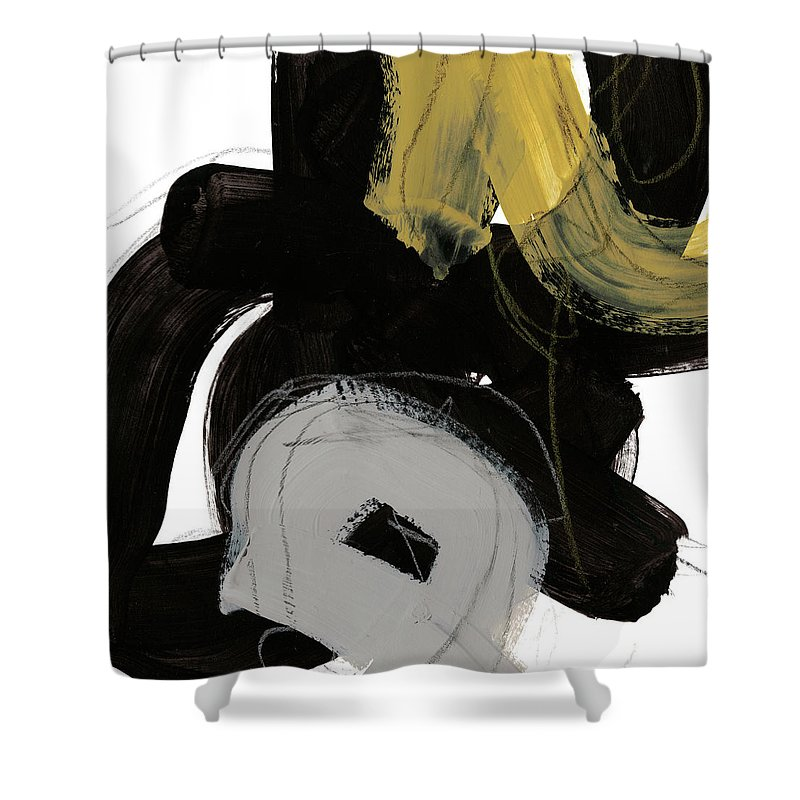 Abstract Shower Curtain featuring the painting Chromatic Impulse I by June Erica Vess