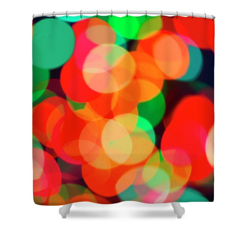 Holiday Shower Curtain featuring the photograph Defocused Lights by Tetra Images