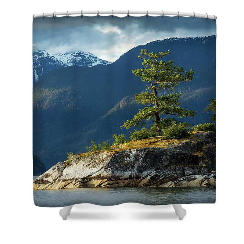 Scenics Shower Curtain featuring the photograph Desolation Sound, Bc, Canada by Paul Souders