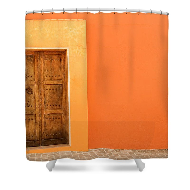 Hinge Shower Curtain featuring the photograph Doorway by Livingimages