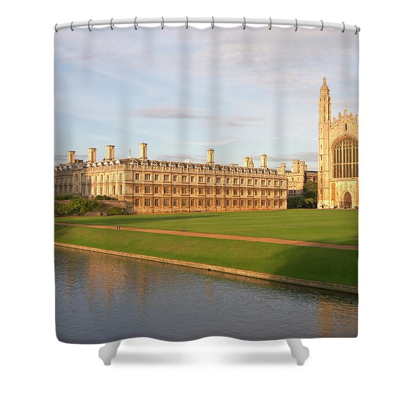 Shadow Shower Curtain featuring the photograph England, Cambridge, Cambridge by Andrew Holt