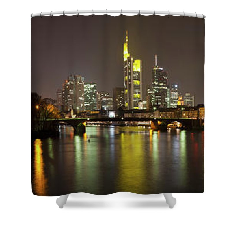 Panoramic Shower Curtain featuring the photograph Germany, Frankfurt, View Of City At by Westend61
