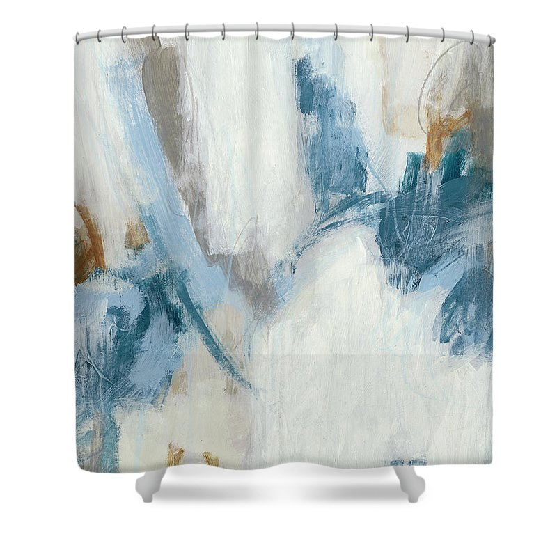 Abstract Shower Curtain featuring the painting Intermittent II by June Erica Vess