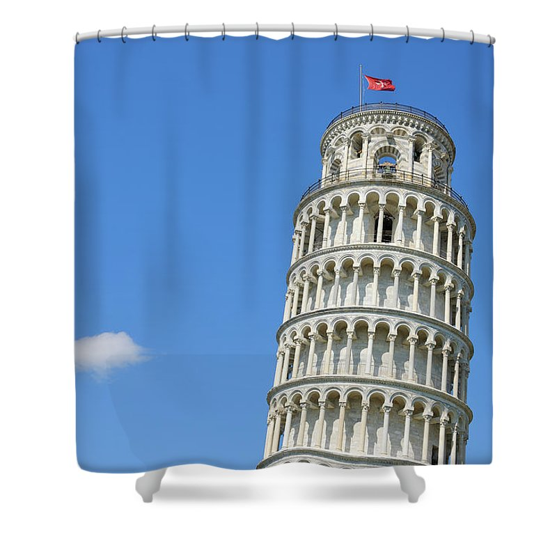 Arch Shower Curtain featuring the photograph Leaning Tower Of Pisa by Martin Ruegner