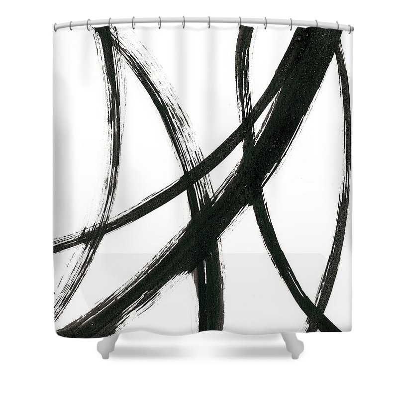 Abstract Shower Curtain featuring the painting Linear Expression II by J. Holland