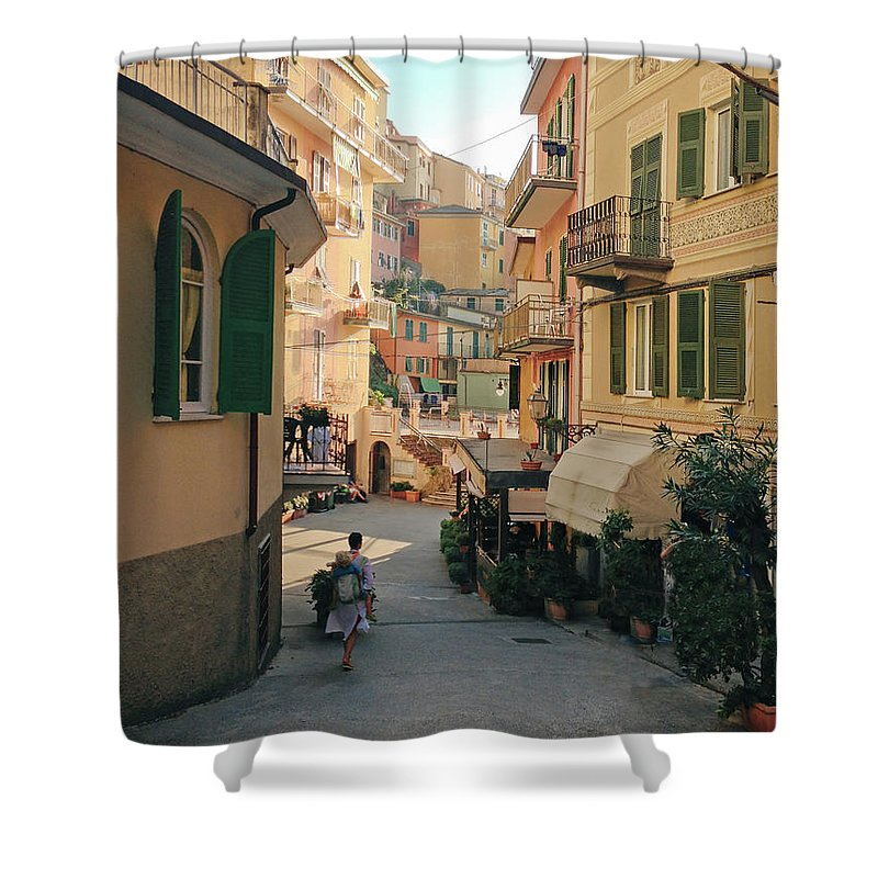 Toddler Shower Curtain featuring the photograph Manarola Italy by M Swiet Productions