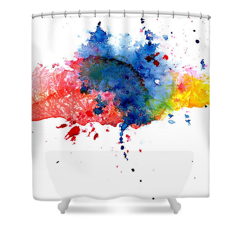 Watercolor Painting Shower Curtain featuring the photograph Multicolored Splashes by Alenchi