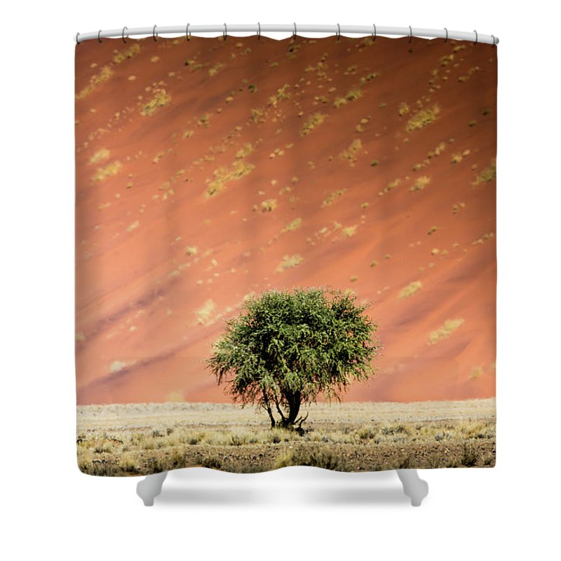 Tranquility Shower Curtain featuring the photograph Namib Desert by Manuel Romaris