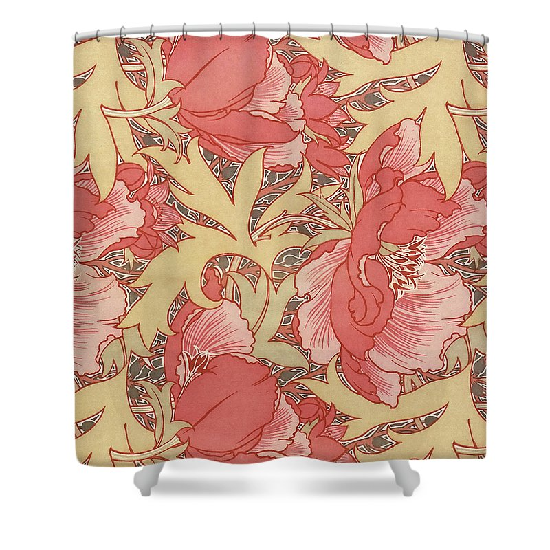 William Morris Shower Curtain featuring the painting Poppies by William Morris