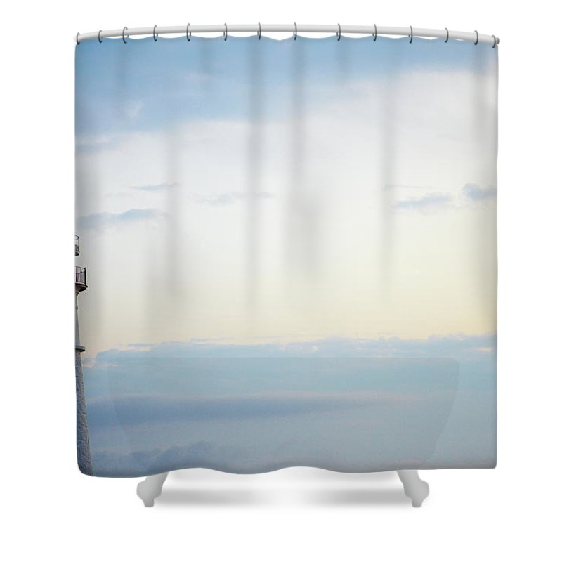 Outdoors Shower Curtain featuring the photograph Portland Head Lighthouse At Sunrise by Thomas Northcut