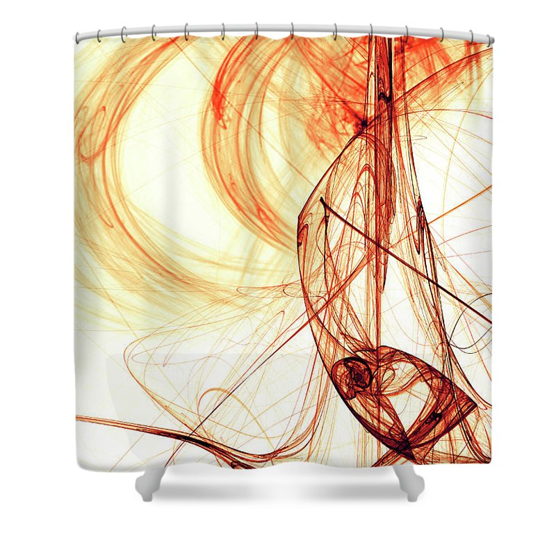 Curve Shower Curtain featuring the photograph Red Energy by Duncan1890