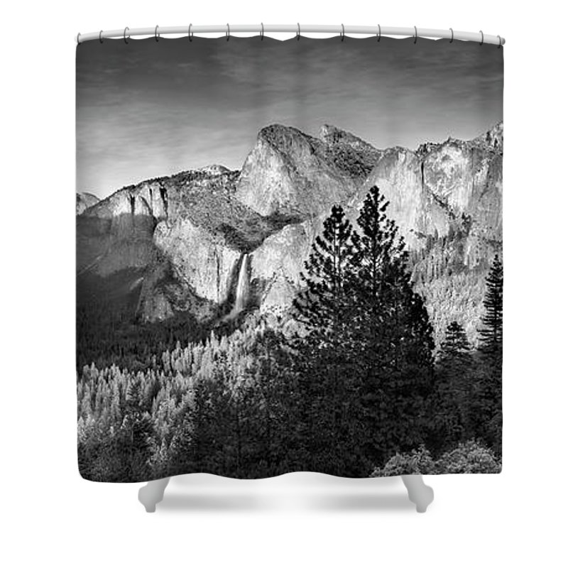 Scenics Shower Curtain featuring the photograph Rocky Mountains Overlooking Rural by Chris Clor