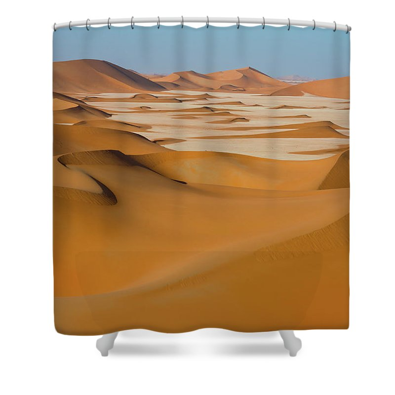Tranquility Shower Curtain featuring the photograph Rub Al-khali Empty Quarter by All Rights Reserved For Ahmed Al-shukaili