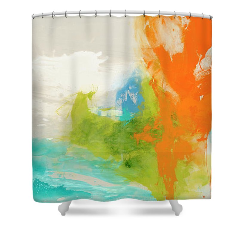 Abstract Shower Curtain featuring the painting Tidal Abstract I by Sisa Jasper