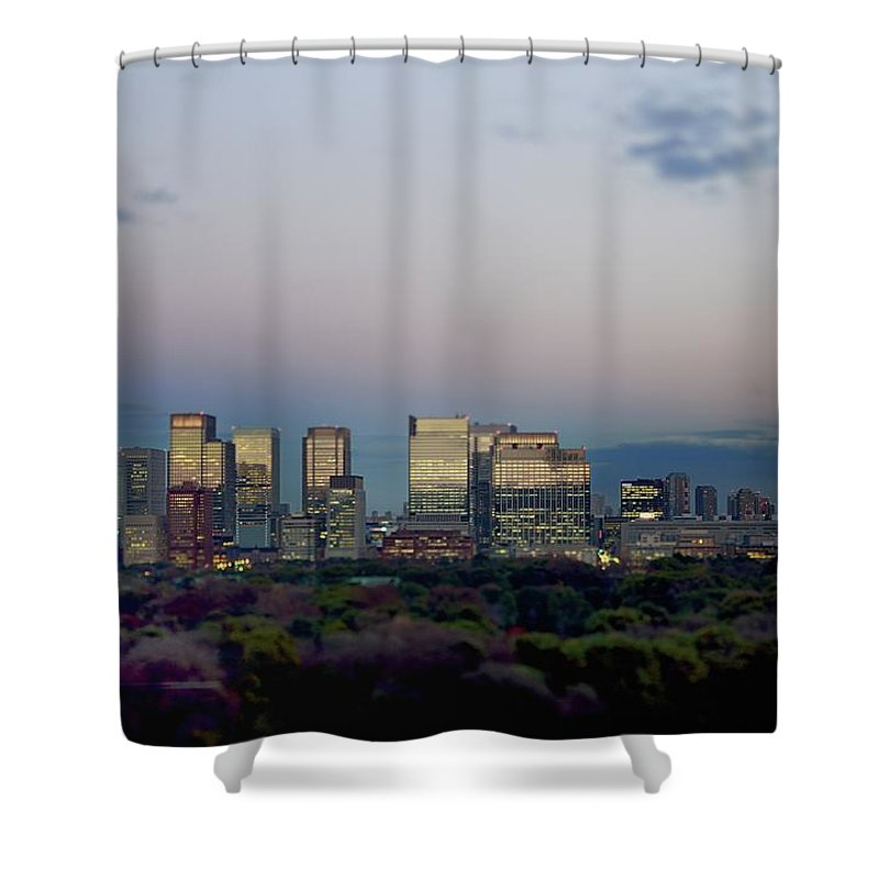 Financial District Shower Curtain featuring the photograph Tokyo Marunouchi by Vladimir Zakharov
