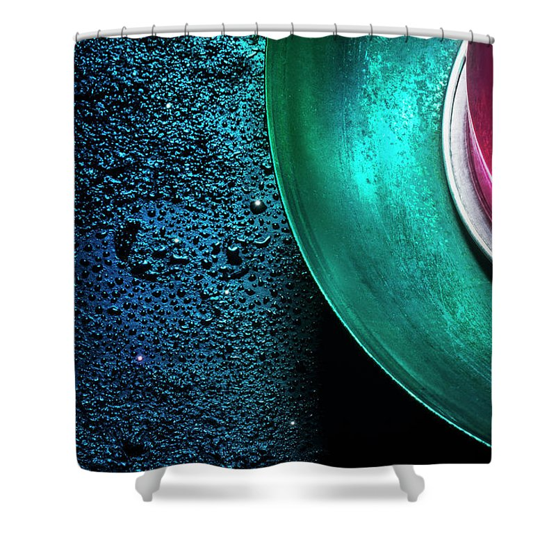 Domestic Room Shower Curtain featuring the photograph Universe In The Kitchen by Hiroshi Watanabe