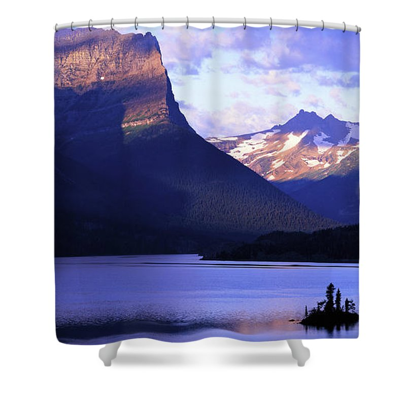 Scenics Shower Curtain featuring the photograph Usa, Montana, Glacier Np, Mountains by Paul Souders