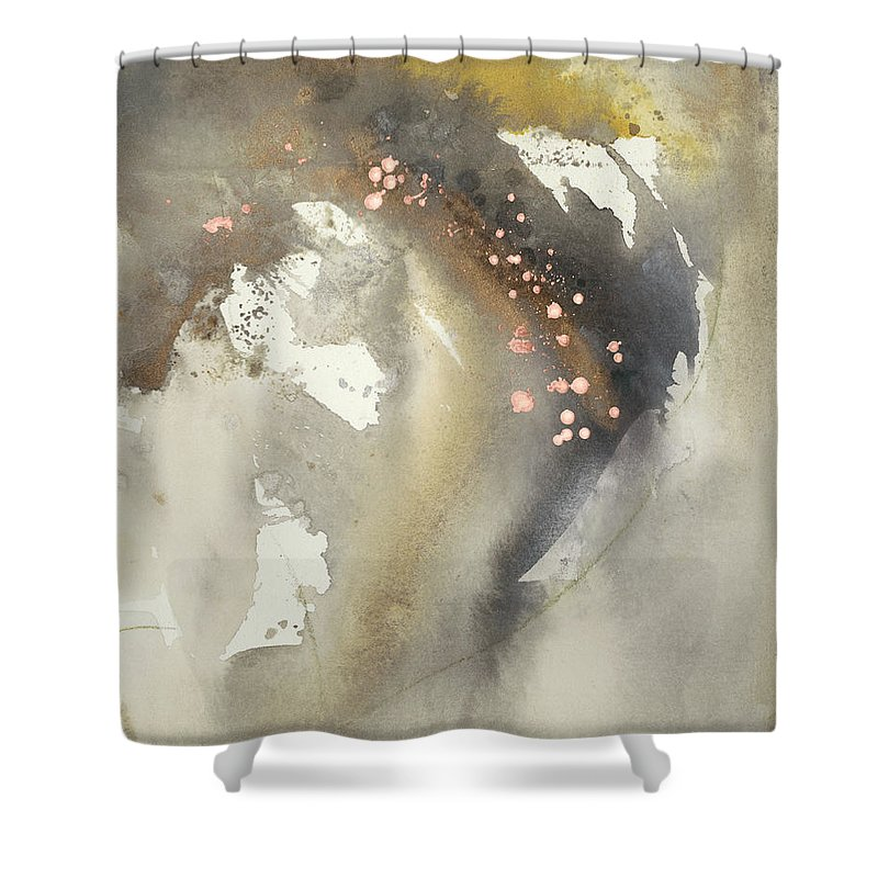 Embellished Shower Curtain featuring the painting Waves In Motion I by Joyce Combs