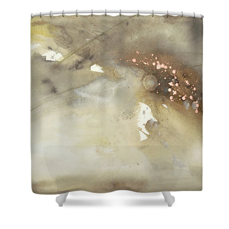 Embellished Shower Curtain featuring the painting Waves In Motion II by Joyce Combs