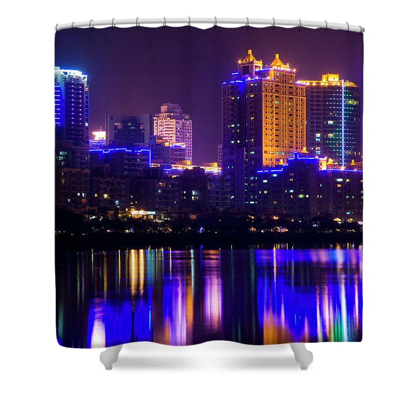 Chinese Culture Shower Curtain featuring the photograph Xiamen,fujian by Best View Stock