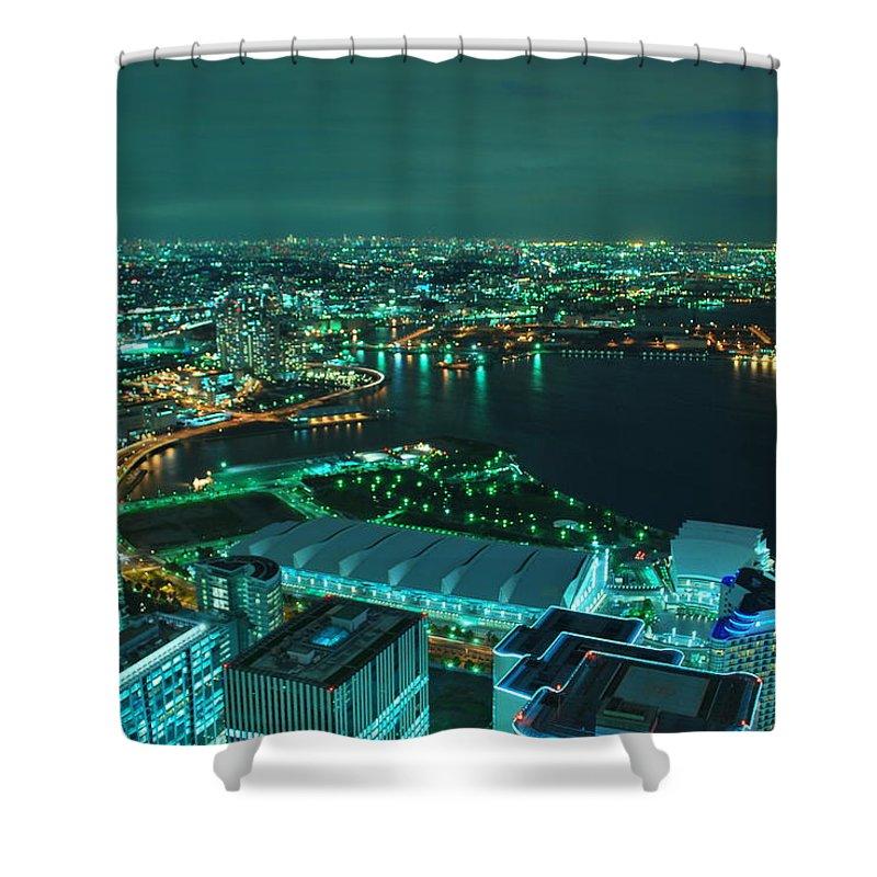 Yokohama Shower Curtain featuring the photograph Yokohama by Copyright Artem Vorobiev