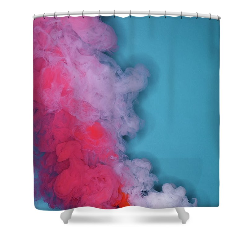 Motion Shower Curtain featuring the photograph Colored Smoke by Henrik Sorensen