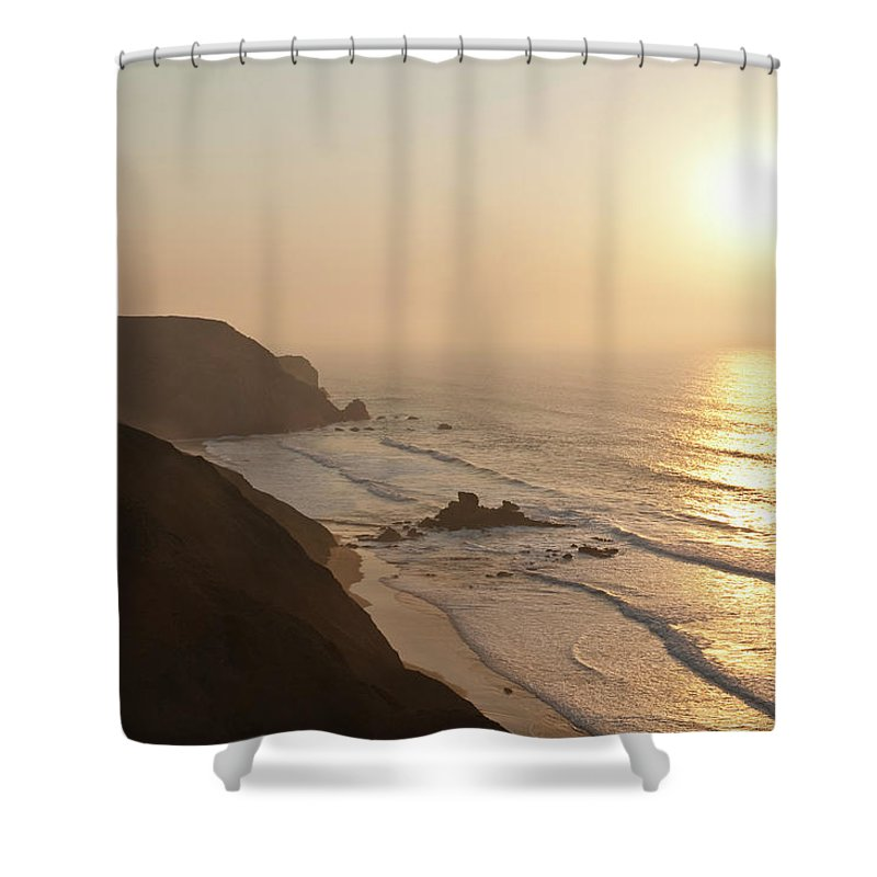 Algarve Shower Curtain featuring the photograph Portugal, Algarve, Sagres, View Of by Westend61