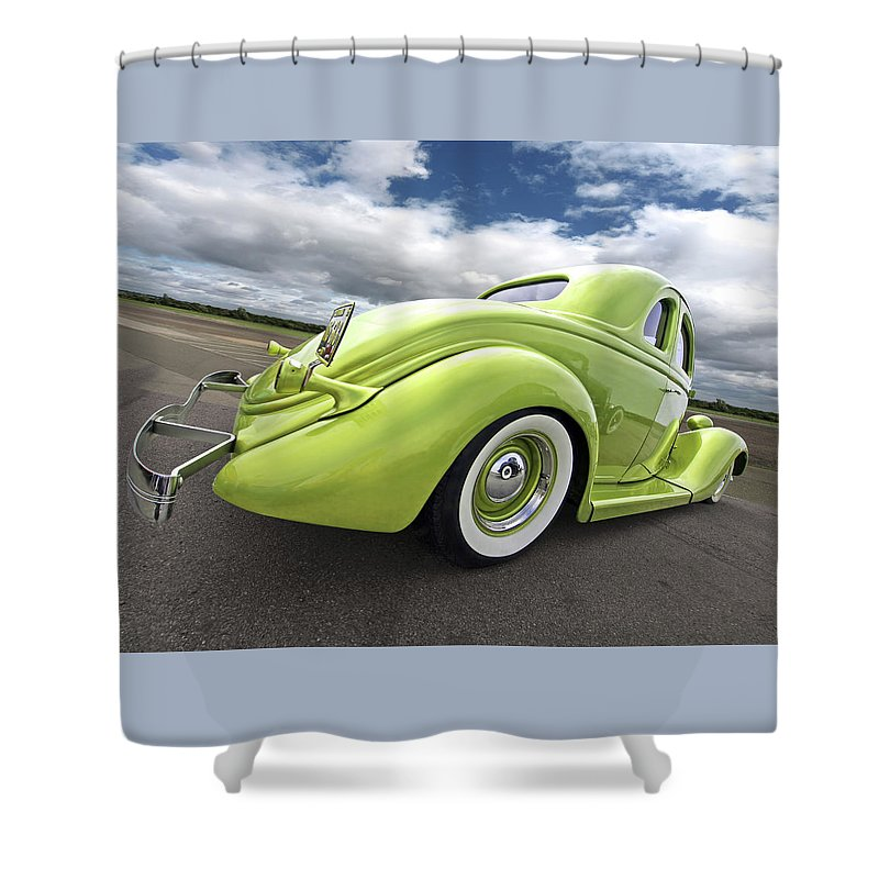 Ford Coupe Shower Curtain featuring the photograph 1935 Ford Coupe by Gill Billington