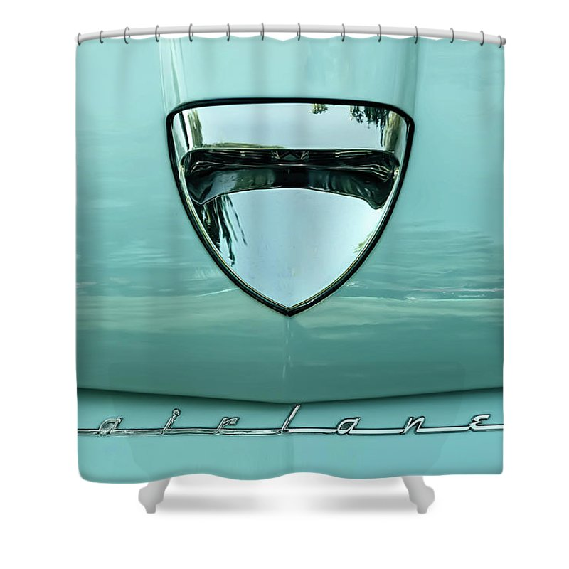 Vehicle Shower Curtain featuring the photograph 1958 Ford Fairlane by Scott Norris