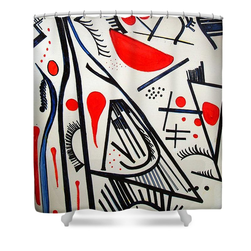 Shower Curtain featuring the painting Caminos by Carol P Kingsley
