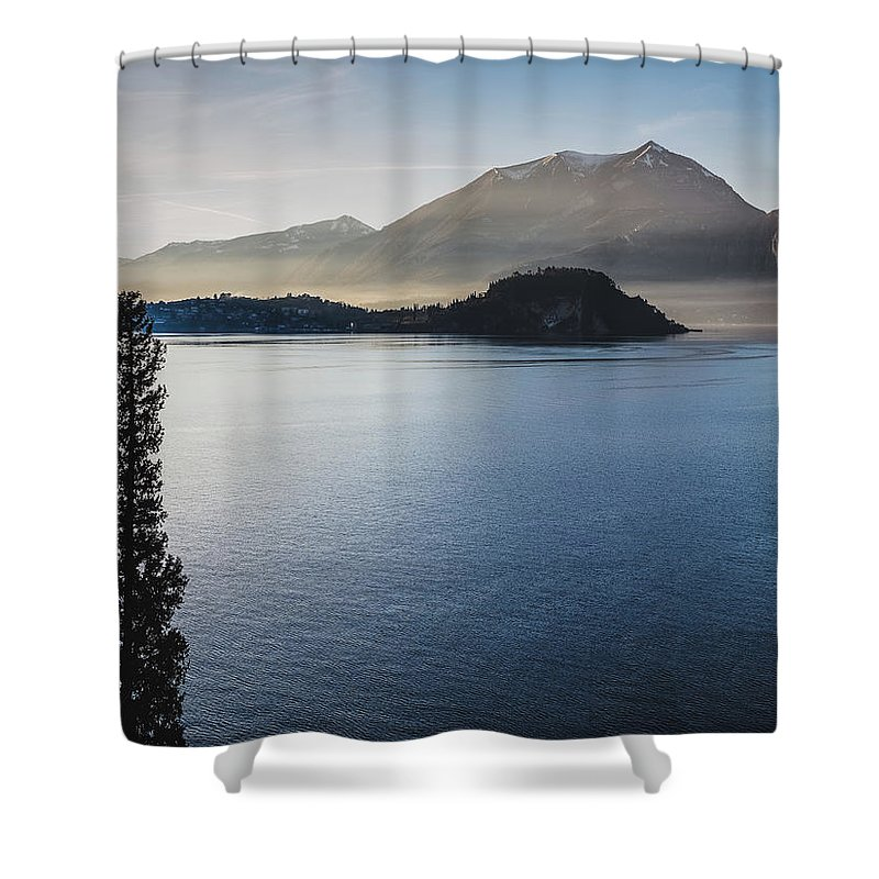 Scenics Shower Curtain featuring the photograph Como District Lake by Deimagine