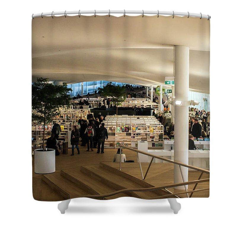 Helsinki Central Library Shower Curtain featuring the photograph Helsinki Central Library by Jarmo Honkanen