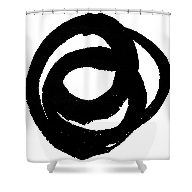 Abstract Shower Curtain featuring the painting Kinetic I by Ethan Harper