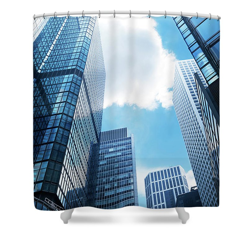 Chinese Culture Shower Curtain featuring the photograph Skyscraper In Hong Kong by Ithinksky