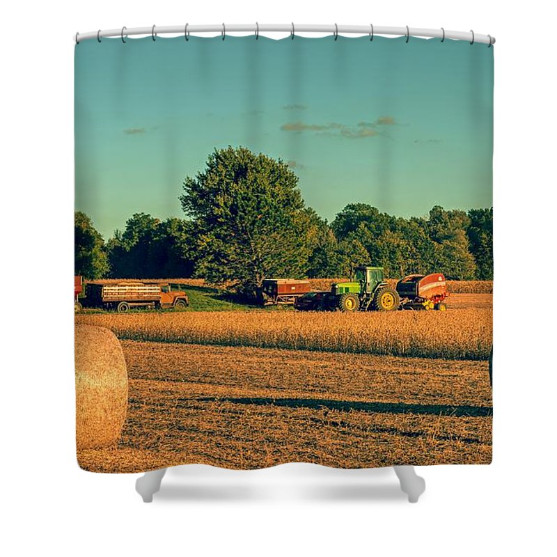 Soybeans Shower Curtain featuring the photograph Soybean Harvest by Mountain Dreams